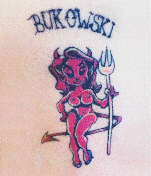 Frank Bukowski's devil lady tattoo